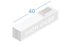 40HR Refrigerated containers 40 feet high cube