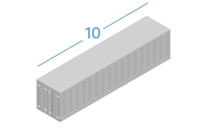 10DC Shipping containers 10 foot