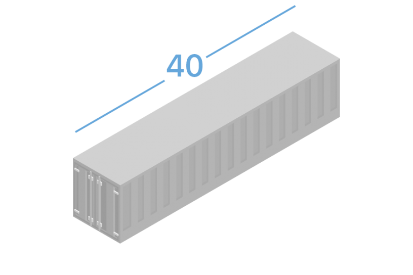 40DC Shipping containers 40 feets