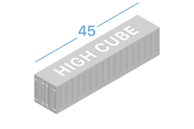 45HC Shipping containers 45 feet high cube